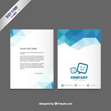 e brochure design templates brochure template with blue polygons vector premium