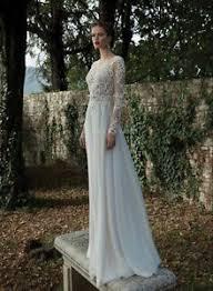 new white ivory lace wedding dresses sheer backless long