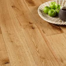 Oak Laminate Flooring B Q Colours Symphonia Rustic Natural Solid Oak Flooring 1 34 M Pack