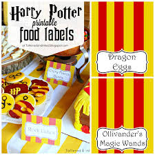 tattered inked harry potter party free printables source