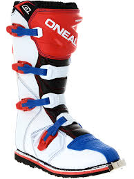 white motocross boots oneal blue red white 2018 rider eu mx boot oneal