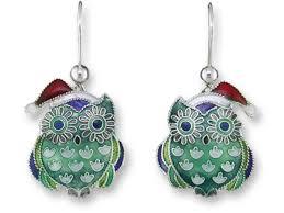owl earrings zarah christmas hoot owl earrings sterling silver and enamel