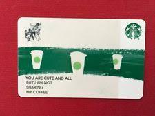 Starbucks Business Cards Starbucks Co Branded Card Ebay