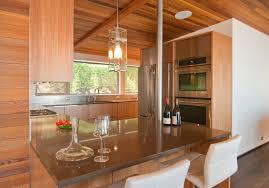white oak wood orange zest lasalle door mid century kitchen
