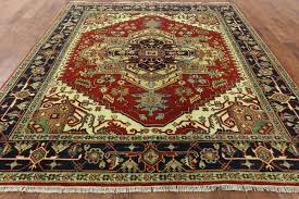 Ebay Antique Persian Rugs by Traditional Oriental Red Black 8x10 Heriz Serapi Hand Knotted Wool