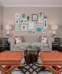 diy photo frames family room transitional with side table framed