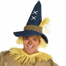 adults mens scarecrow straw man fancy dress up party
