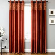 Contemporary Orange Curtains Designs Grey And Orange Curtains Contemporary Fully Lined Orange Eyelet