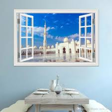 3d wallpaper wall mural stickers masjid islam muslim wall stickers 3d wallpaper wall mural stickers masjid islam muslim wall stickers construction window view home decor vinyl decals for walls 20x28 inch large childrens