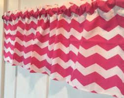 Pink And White Chevron Curtains Pink Chevron Valance Etsy