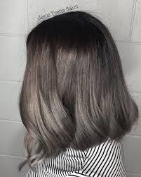 silver brown hair gray brown hair color metallic hair color ideas pinterest
