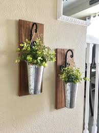 Metal Wall Planter by Home Decorhanging Planter With Greenery Or Flowers Rustic