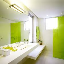 modern green and white bathroom decorating ideas with modern white