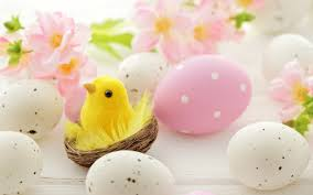 easter eggs wallpapers pink and white easter eggs cute in nest spring flowers
