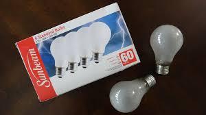 sunbeam 60watt frost incandescent light bulbs youtube
