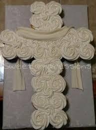 cross cupcake cake for baby boy baptism cake life pinterest