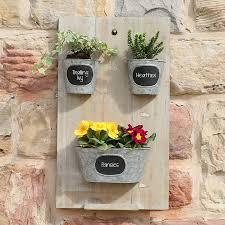 wall mounted garden planter with galvanized pots by dibor