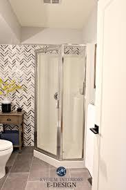 bathroom corner shower ideas small bathroom corner shower update ideas herringbone marble
