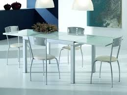 White Glass Extending Dining Table Glass Extending Dining Tables