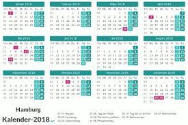Kalender 2018 Hamburg Brückentage Kalender 2018 Hamburg
