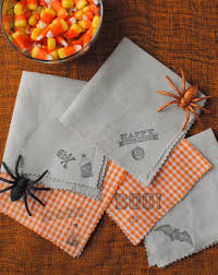 great diy halloween cocktail napkins u0026 some spooky brew