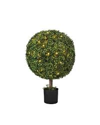 Light Up Topiary Balls - battery operated boxwood topiary balsam hill