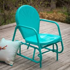 Old Fashioned Metal Outdoor Chairs by 99 In Yellow Coral Coast Vintage Retro Outdoor Glider Chair