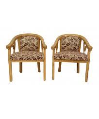Wooden Armchair Designs Buy Online Designer Wooden Chair Pair Of Two For Bedroom Room
