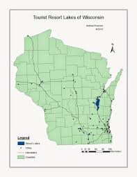 Map Of Wisconsin Cities Geog 335 Gis 1 Blog