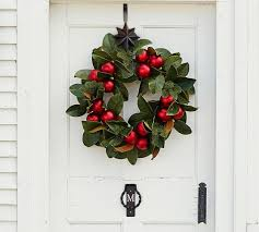 outdoor ornament magnolia wreath garland pottery barn