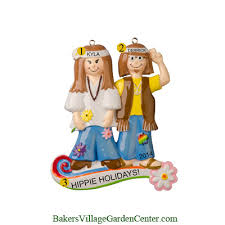 personalized ornaments hippie