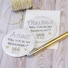 bridesmaid invite personalised bridesmaid invite magnet by bedcrumb