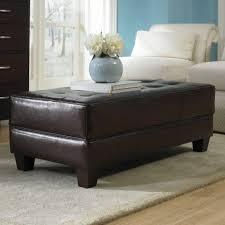 coffee table round leather coffee table ottoman modern storage pi