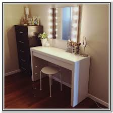 Narrow Makeup Vanity Table Vanity Table With Lights And Mirror Drawers Bench For Sale