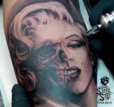 marilyn monroe pin up skull tattoo steve soto the best pin up
