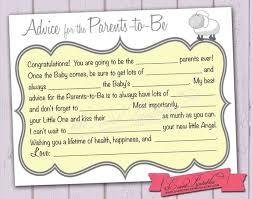 to be card free printable baby shower mad lib advice cards search