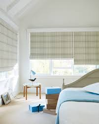 cool roman blinds bedroom featuring black fabric vertical sliding