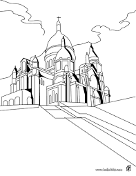 notre dame church coloring pages hellokids com