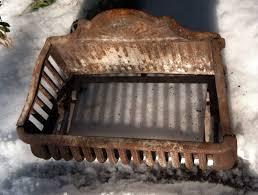 Cast Iron Fireplace Insert by Antique Cast Iron Fireplace Basket Grate Coal Box Wood Log