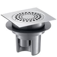 siphon cuisine inox siphon de sol 150x150 à hauteur réglable jusqu à 85mm grille inox