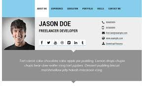 Resume Profile Template 30 Best Resume U0026 Cv Html Templates 2016 Designmaz