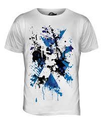 scotland flag abstract print mens t shirt top scottish st andrews