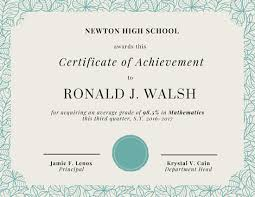 achievement certificate templates canva
