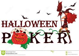 Halloween Banner Clipart by Halloween Poker Banner With Pumpkin Stock Photo Image 26761110