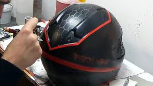motocross helmet painting black wolf inspired witcher 3 wild hunt design painted on