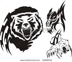 bear polar bear and wolf tribal tattoo designs in 2017 real photo