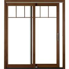 Thermastar By Pella Patio Doors All Fiberglass Sliding Patio Door With Custom Horizontal Grids