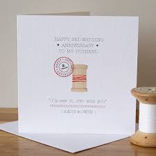 2nd anniversary gift ideas for husband personalised second anniversary card by button box cards