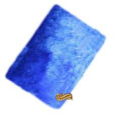 solid royal blue color afro shag area rug 5 u0027 x 7 u0027 ebay