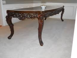 dining room table woodworking plans elegant hand carved high gloss brown finish teak wood sofa table